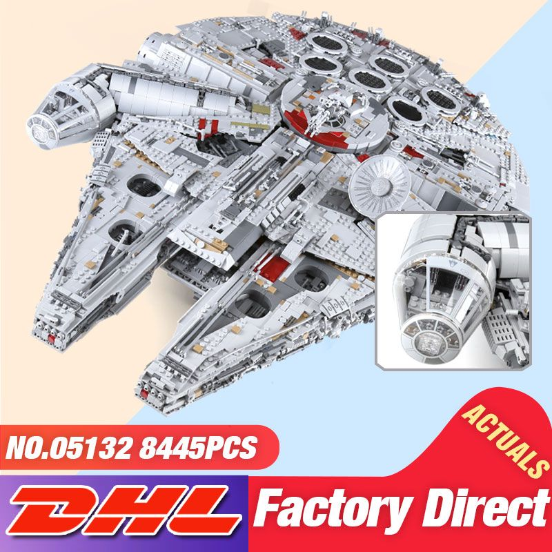 In Stock DHL Lepin 05132 8445PCS The 75192 New Falcon Ultimate Collector's Destroyer Set Building Blocks Bricks Kid Toys as Gift