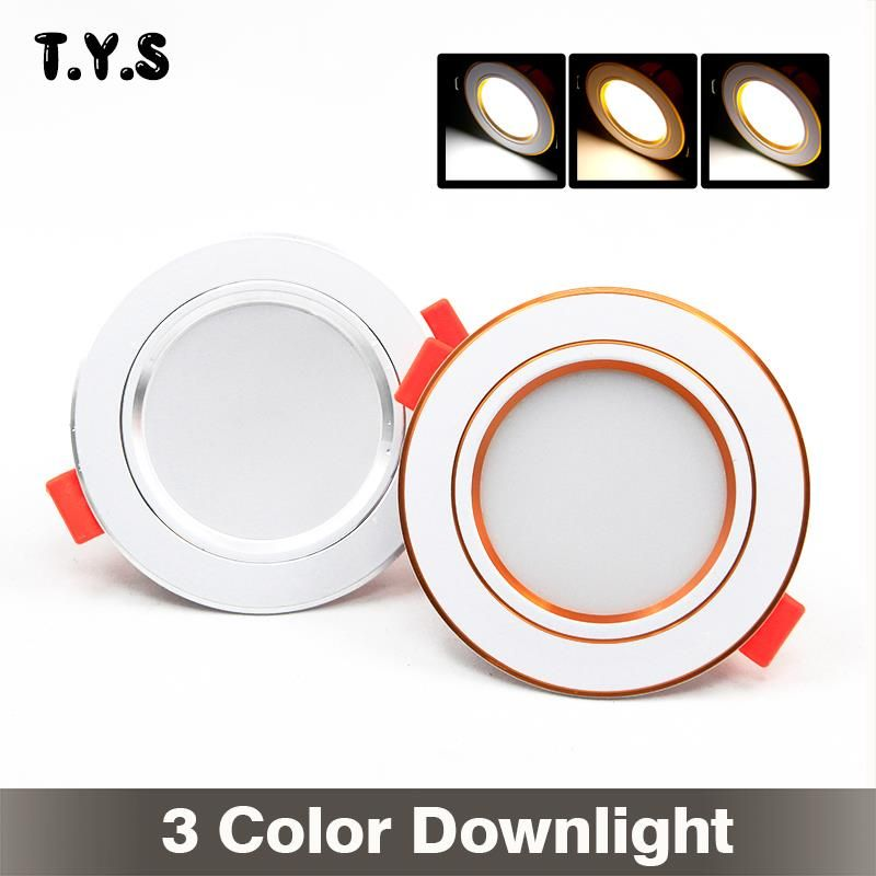 Luces led downlight 220v ceiling lamp spot led 3w 5730 Warm Cool Nature White recessed gold downlight led panel light down light