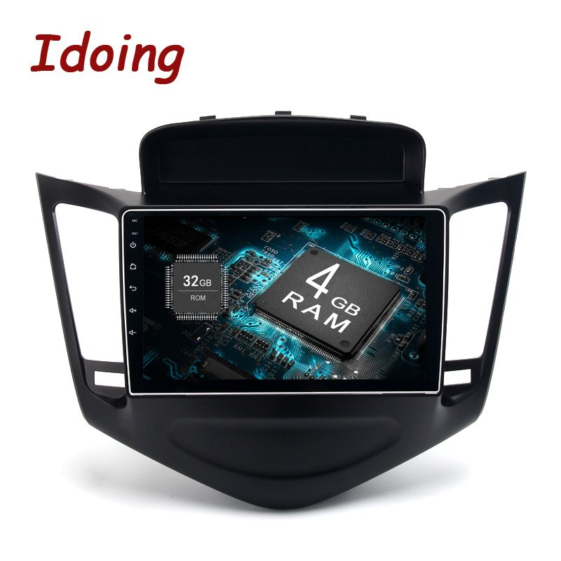 Idoing 1Din 9inch 4G RAM 32G ROM Fit Chevrolet Cruze Steering Wheel Android8.0/7.1 Car Multimedia Player Octa Core Fast Boot TV