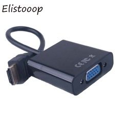 High Quality HDMI to VGA Adapter Male To Famale Converter Adapter 1080P Digital to Analog Video Audio For PC Laptop Tablet