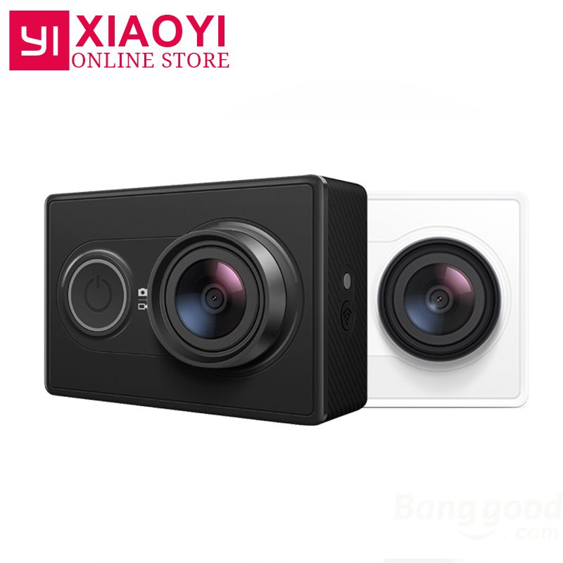 <font><b>[International</b></font> Edition]Original YI Sports Camera Xiaomi Xiaoyi Action Camera WiFi 3D Noise Reduction 16MP 60FPS Ambarella A7LS