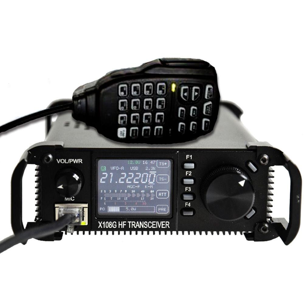 Xiegu X-108G Extérieure Édition X108's Version Améliorée 0.5-30 MHz CB HF Amateur Jambon Mobile Émetteur-Récepteur HF CB JAMBON Amateur Radio