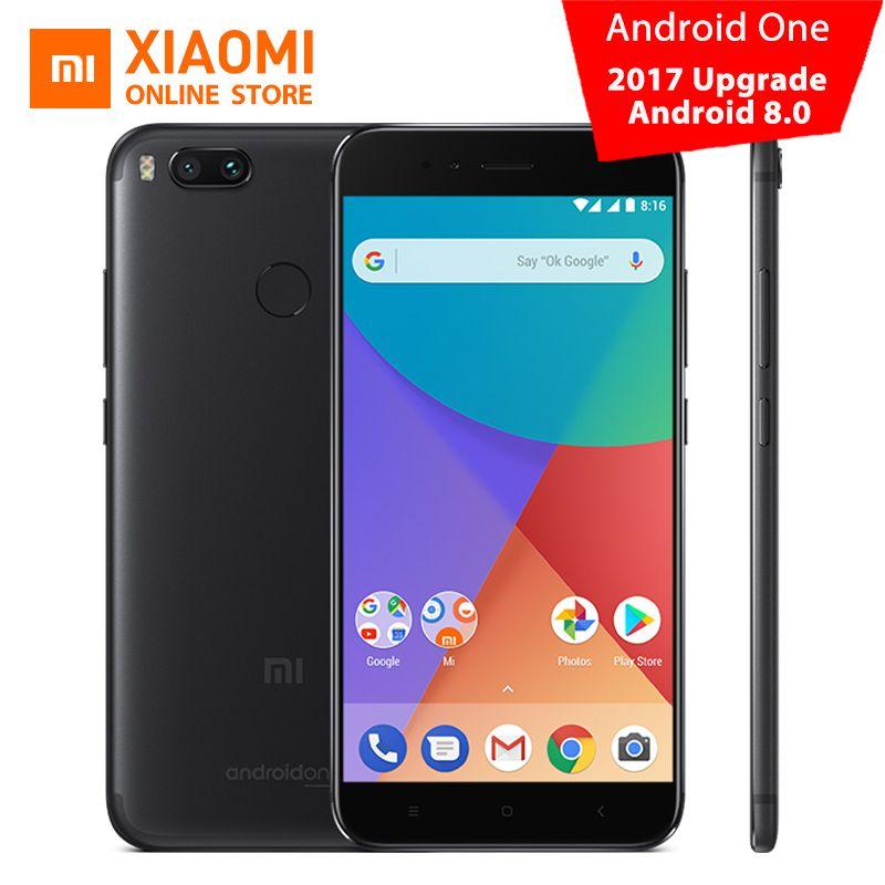 Global Version Xiaomi Mi A1 4GB 32GB Smartphone Snapdragon 625 Octa Core Dual 12.0MP 5V 2A 5.5'' 1080P 403PPI Android One CE FCC