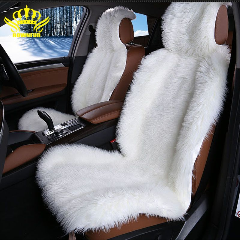 High Quality faux fur front car seat covers for car cushion universal fit Most cars seat Interior Accessories 2016new