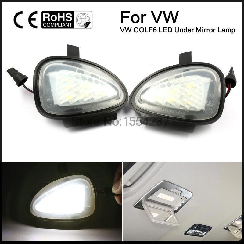 2 X Under Side Mirror Puddle 6 LED Lights for VW GTi/Golf MK6 6/MKVI 2010-2014 Touran Cabriolet