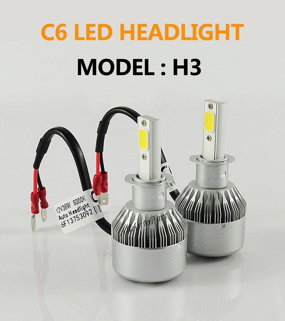 1 Set 72W 7600LM LED Headlight Bulbs H1 H3 H4 H7 H8/H9/H11 H13 880 9006 HB4 For toyota opel astra h golf 4 passat b6 mazda 6 vw