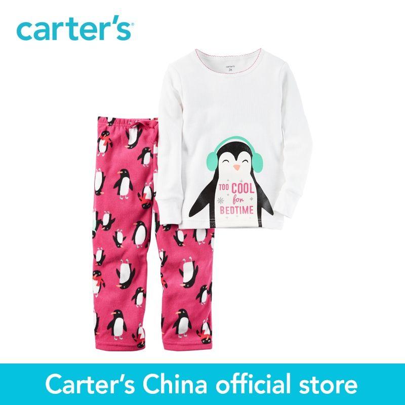 Carter's 2pcs baby children kids 2-Piece Cotton & Fleece PJs 337G218,sold by Carter's China official store