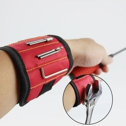 Magnetic Wristband Pocket Tool Practical Arm Band Wrist Toolkit Belt Pouch Bag Belt Screws Holder Holding Tools 2 magnets