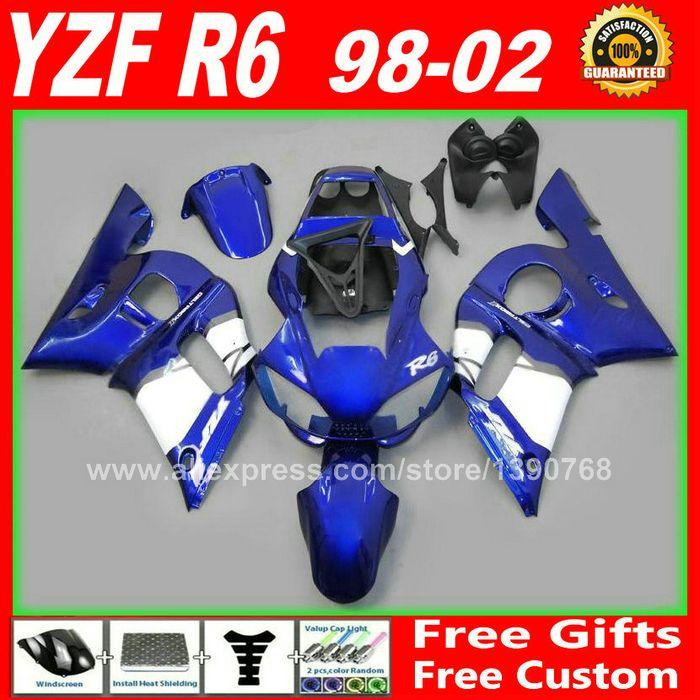 Custom body repair Fairings set for YAMAHA R6 1998 1999 2000 2001 2002  body parts kit  98 99 00 01 02 professional fairing kits