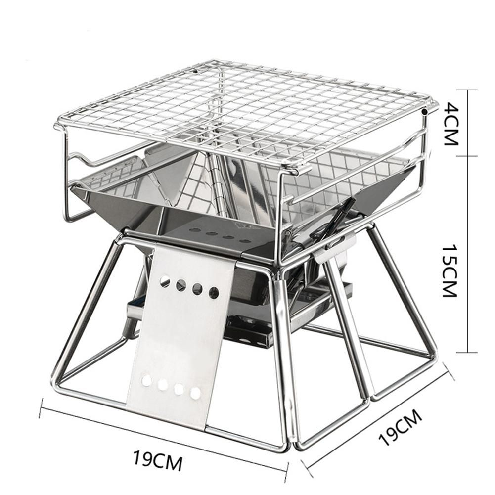 AsyPets Exquisite Portable Stainless Steel BBQ Oven Set BBQ Grill for Outdoor Small Barbecue-30
