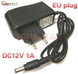 12V1A AC 100V-240V Converter power Adapter DC 12V 1A 1000mA Power Supply Adapter EU Plug DC 5.5mm x 2.1mm(2.5mm) drive led strip
