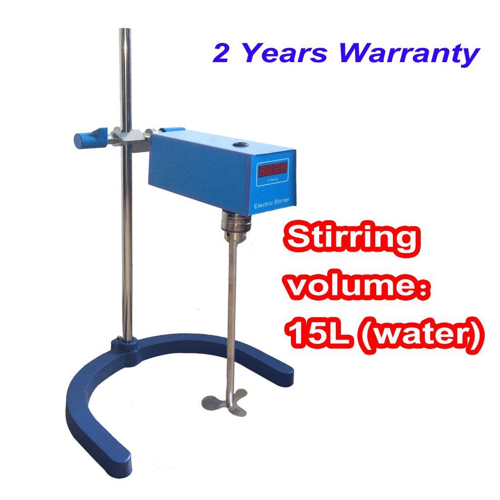 Free shipping, 15L laboratory LCD Digital Overhead Stirrer
