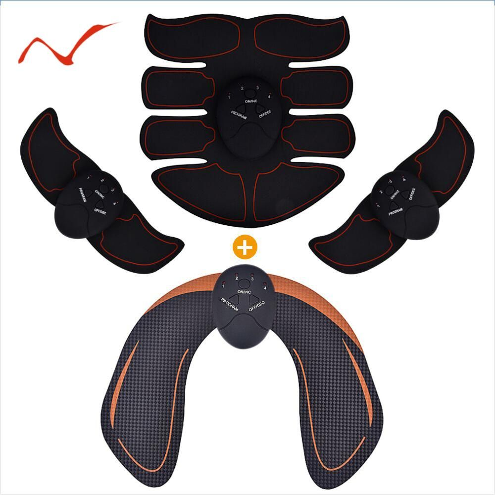Smart EMS Hips Trainer Electric Muscle Stimulator Wireless Buttocks Abdominal ABS Stimulator Fitness Body Slimming Massager
