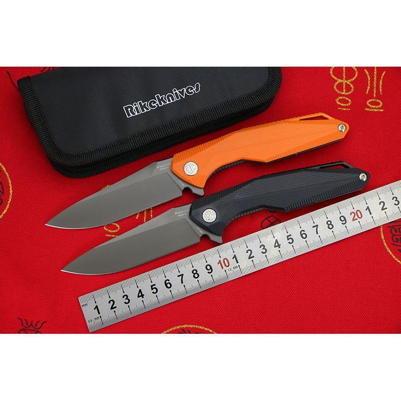 Rike RK801G 154CM steel G10 titanium handle Flipper folding knife camping hunting pocket outdoor Tactics survival knive EDC tool