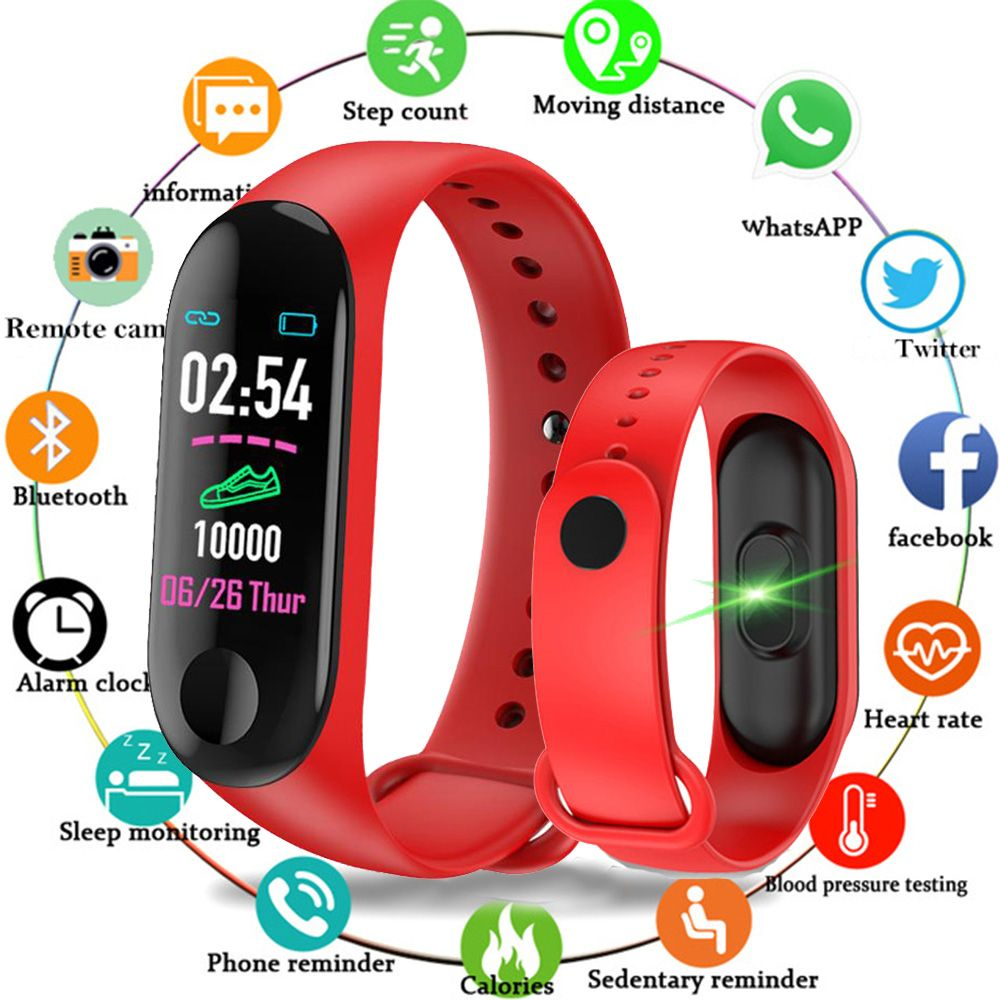 Fashion Smart Watch Women Men Sport Bracelet Fitness Blood Pressure Heart Rate Monitoring Pedometer Bluetooth Digital Watch
