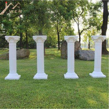 European Style Roman Columns White Color Plastic Pillars Road Cited Wedding Props Event Decoration Supplies 2pcs/lot