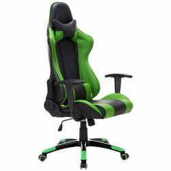 Goplus alto trasera estilo de carreras juego silla reclinable Oficina Ejecutiva tarea silla pu sillón giratorio HW52606