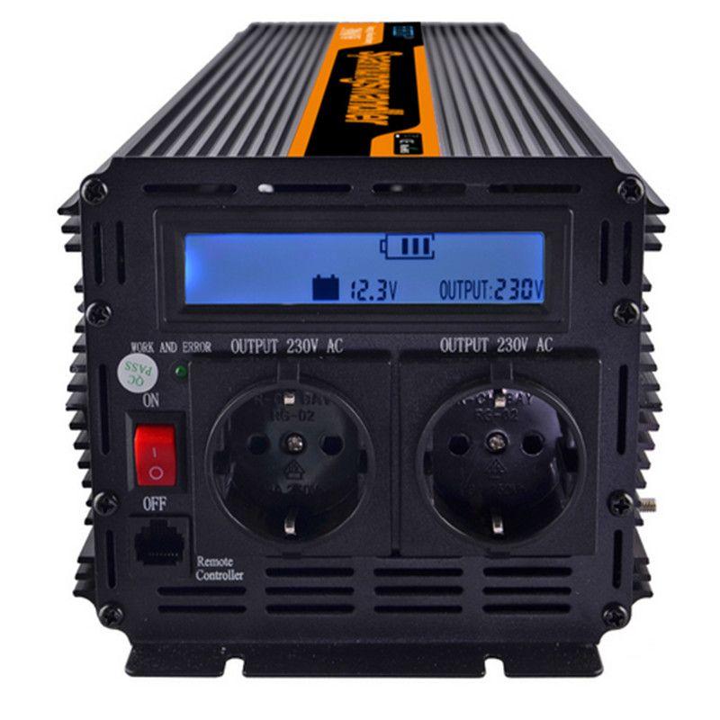 EDECOA power inverter 2000 watt/4000 watt DC 12 v AC 230 v modifizierte sinus welle inverter off grid inverter mit fernbedienung freies schiff