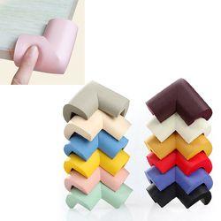10 unids/lote nueva llegada niños tabla protección 10 colores sólidos almohadillas opcionales en esquinas diseño grueso protector de la esquina