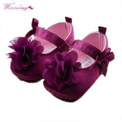 New Stylish Indah Balita Bayi Perempuan Pejalan Kaki Pertama Prewalker Crib Sepatu Lembut Sole Bunga Baru