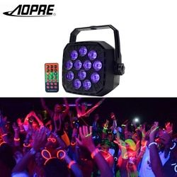 AOPRE UV Led Stage Light Disco Light Ball with DMX 512 36W Stage Lighting Effect Lights Stage Lamp for Dj Bar Party KTV PL12
