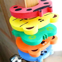 10pcs/Set Children Safety Cartoon Door Clamp Pinch Hand Security Stopper Cute Animal Baby Safety Door Stopper Clip Security 2017