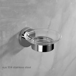Modern Dipoles Chrome Sabun Piring Perak 304 Stainless Steel Rak Sabun/sabun Pemegang Dengan Piring Kaca Kamar Mandi Aksesoris Gd5