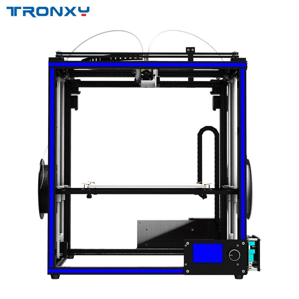 2018 neueste Tronxy DIY 3D Drucker X5ST-2E Gemischt farbe Doppel Fütterung port 3d drucker maschine metall mit brutstätte freies verschiffen