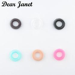 1 boîte 3.5 cm De Mode Mignon De Bonbons Couleur ligne téléphonique gomme cheveux styling outils chapeaux Livraison gratuite