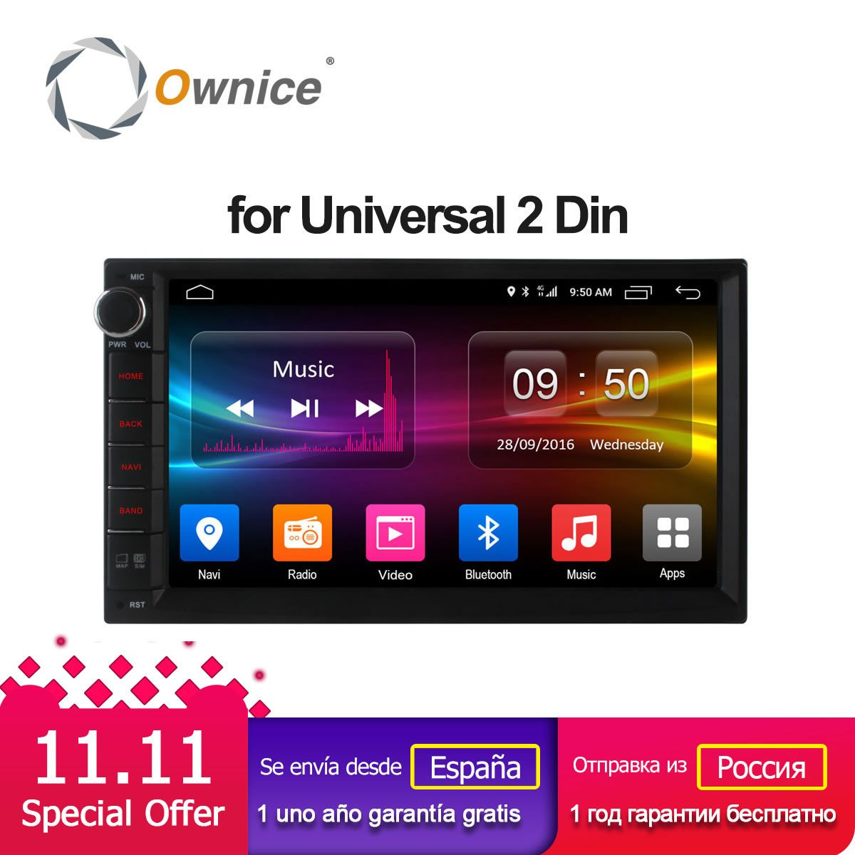 Ownice C500 Android 6.0 Octa 8 core Radio 2 DIN 2GB RAM 32GB ROM universal GPS radio wifi Support 4G LTE Network DAB+ no dvd