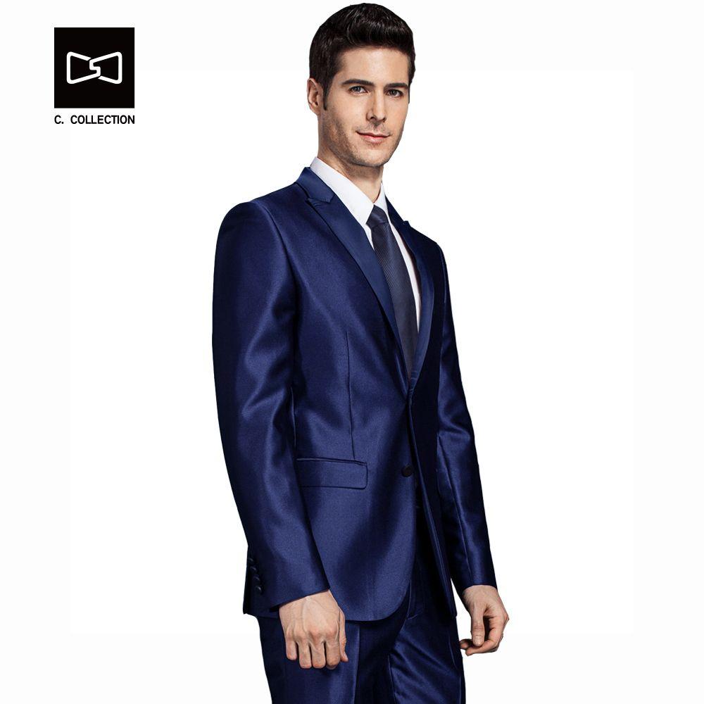 2018 hommes marié mariage costume Slim fit formel hommes costume dernier manteau pantalon conceptions mode robe de luxe smoking hommes Blazers 2 pièces