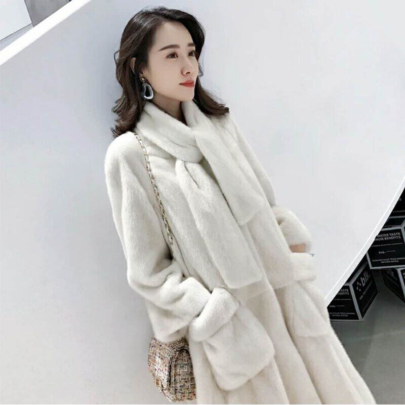 CHEWIES Women Natural Real Rex Rabbit Fur Coat Collar Winter Jacket Thick Long Women Plus Size Factory Outlet New Arrival 8.10