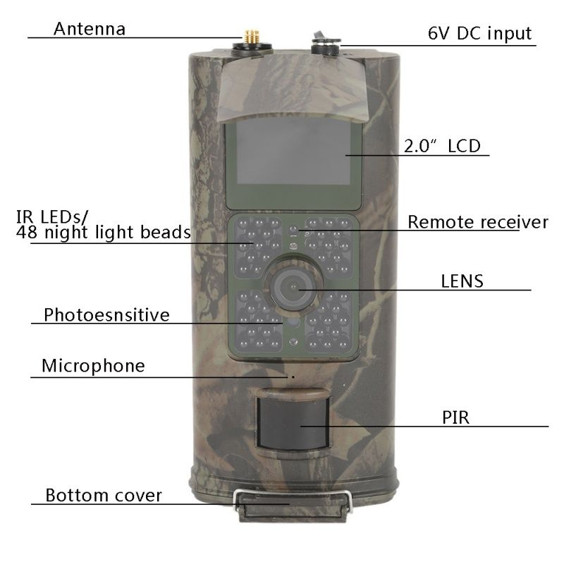 Hunting Camera Wide Lens Portable Wildlife Digital Infrared Scouting Trail Camera