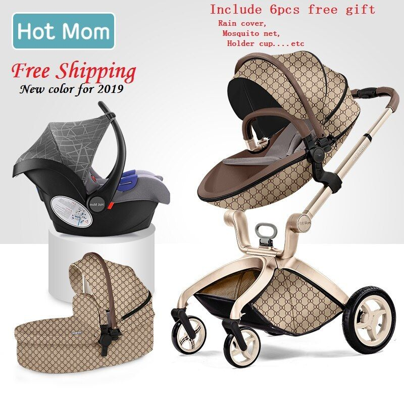 Free Shipping Luxury Baby Stroller High Land-Scape Baby Stroller 3 in 1 Hotmom Carriage