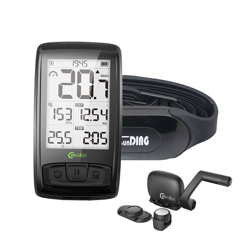 Tachometer Wireless Bicycle Computer Speed Cadence Bike Sensor Meilan M4 Bluetooth4.0 Sports Wireless Heart Rate Monitor Sunding