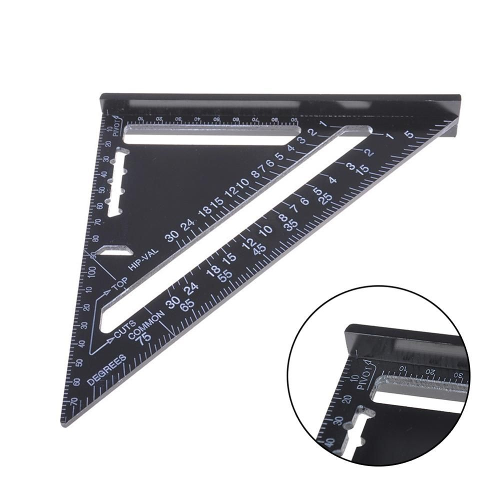Multi Template 6 Folding Rulers Measuring Tool Angle Ruler with Drill Guide Glass Tiles Woodworking Gauges Tool Template