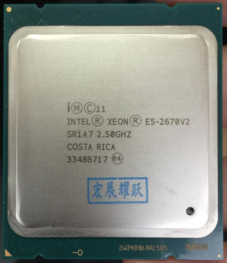 Intel Xeon Serv Prozessor E5-2670 V2 E5 2670 V2 CPU 2,5 LGA 2011 SR1A7 Zehn Kerne Desktop prozessor e5 2670V2 100% normale arbeit