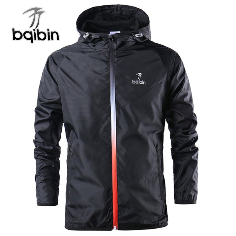 2019 New Spring Summer Mens Fashion Outerwear Windbreaker Men' S Thin Jackets Hooded Casual Sporting Coat Big Size