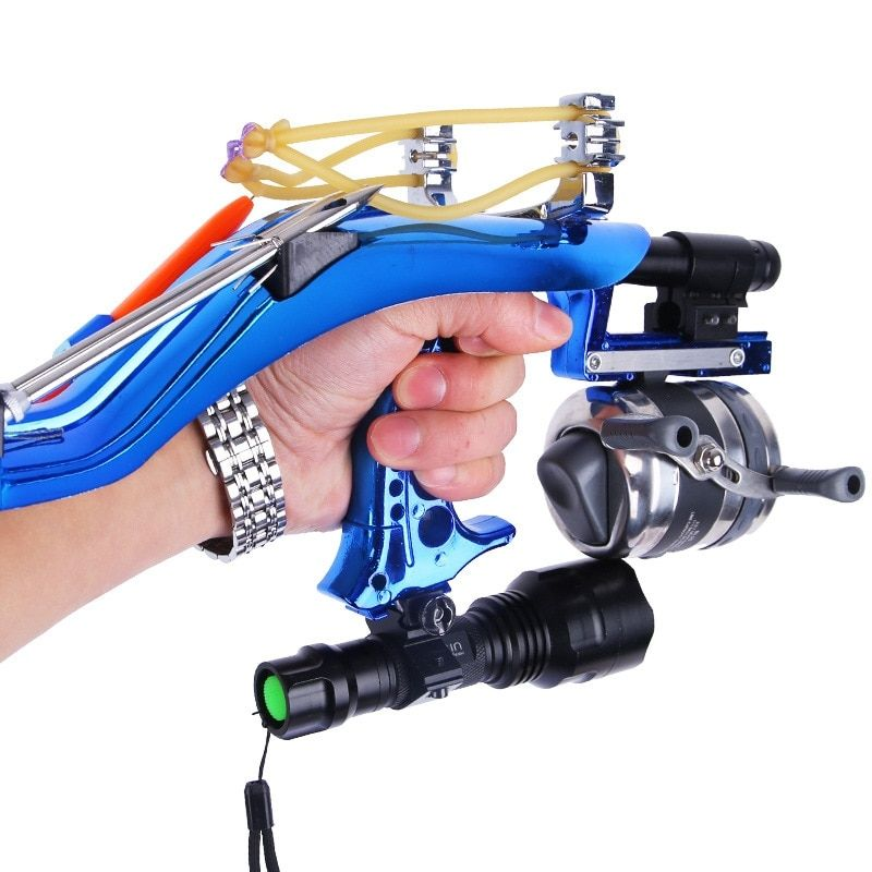 Outdoor Laser Slingshot Powerful Velocity Dart Shoting Fish Night Hunting Catch Fish Infrared Launcher Aiming Catapult Tool Set
