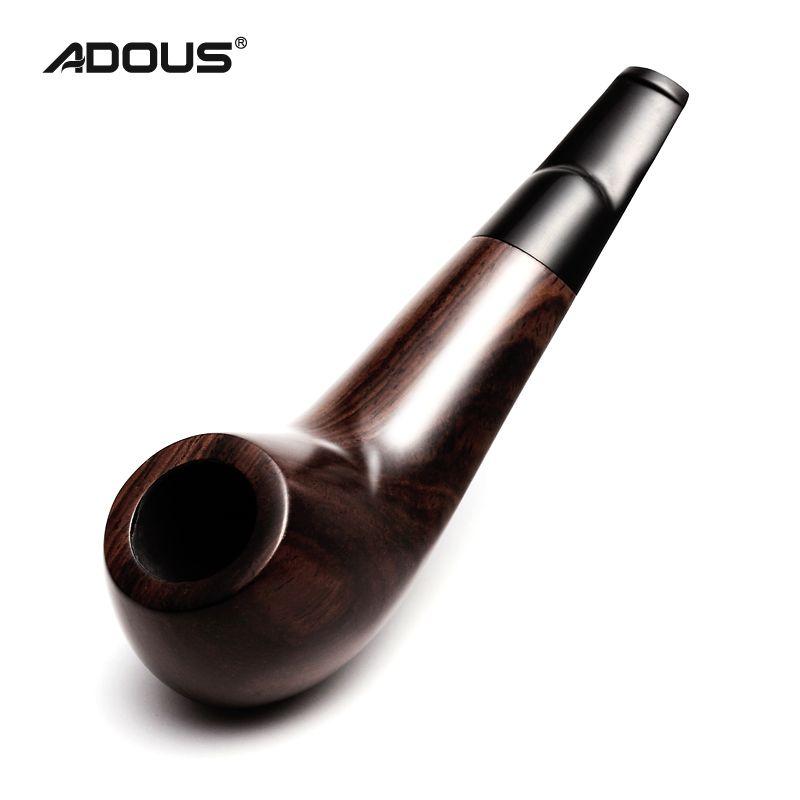 2018 Nouveau ADOUS tuyau D'ébène trompette style court paragraphe AH652 Chinois pipe de Tabac pipes
