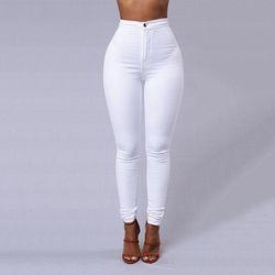 Mode Haute Qualité Multicolore Femmes Skinny Jeans Taille Haute Crayon Stretch Look Décontracté Élasticité Femmes Jeans Vêtements