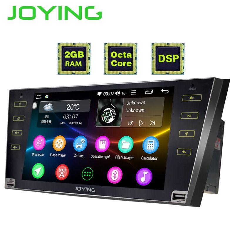 JOYING 2 din autoradio Android 8.1 9 zoll HD touchscreen Octa Core DSP unterstützung split screen 2 GB RAM für camry/Aurion 2007-2011