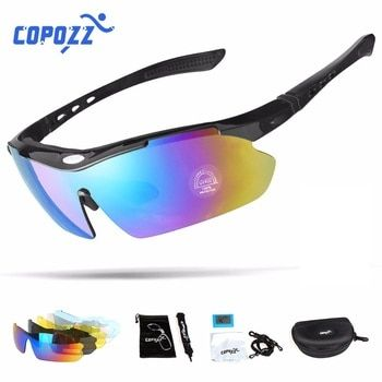 Copozz Polarized Cycling Glasses Outdoor MTB Mountain Goggles Eyewear Bicycle Sun Glasses Bike Sport Sunglasses Myopia 5 Lens