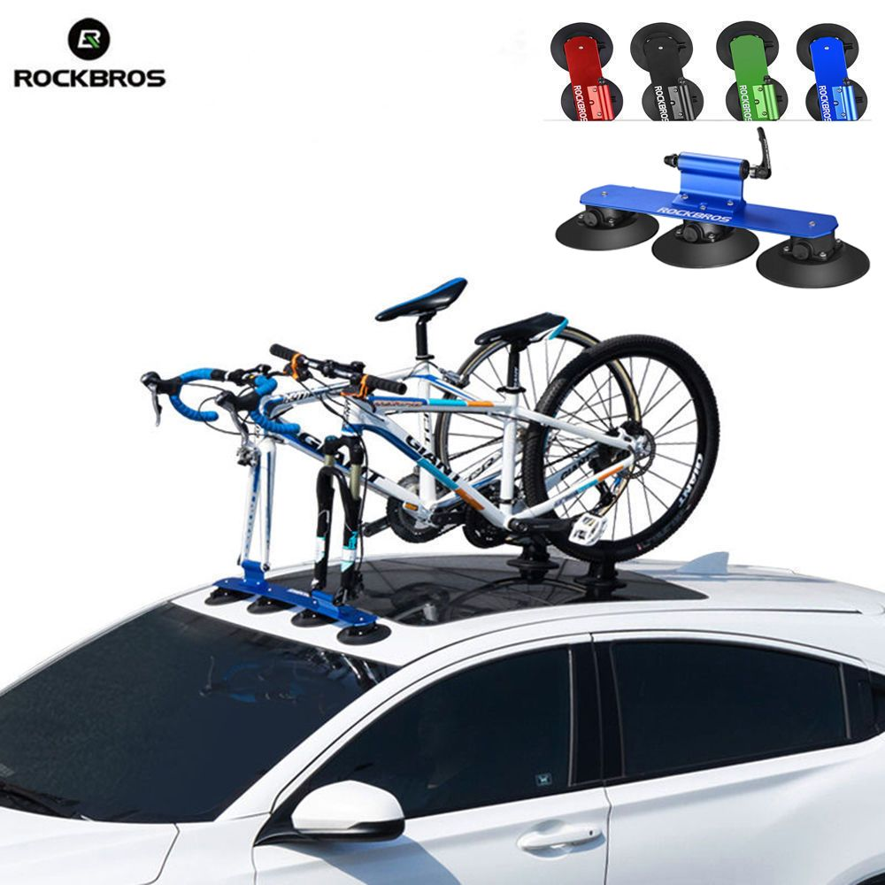 ROCKBROS Bicycle Rack Suction Roof-Top MTB Mountain Road Bike Car Racks Carrier Quick Installation Roof Rack Cycling Accessory