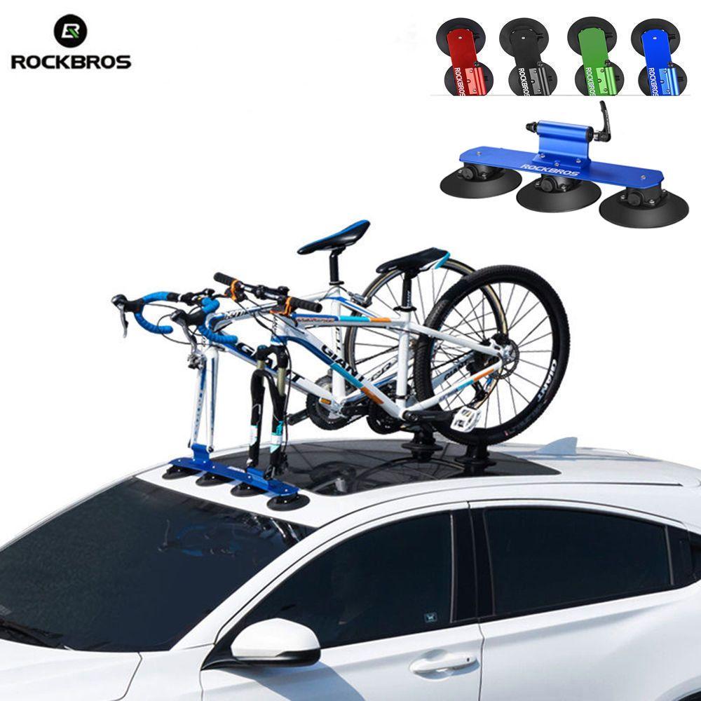 ROCKBROS Fahrrad Rack Saug Dach-Top MTB Mountain Road Bike Auto Racks Träger Schnell Installation Dach Rack Radfahren Zubehör
