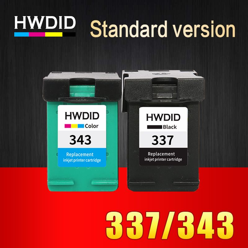 HWDID 343 337 Remanufactured Ink Cartridge Replacement for HP 337 343 for HP Photosmart 2575 8050 C4180 D5160 Deskjet 6940 D4160