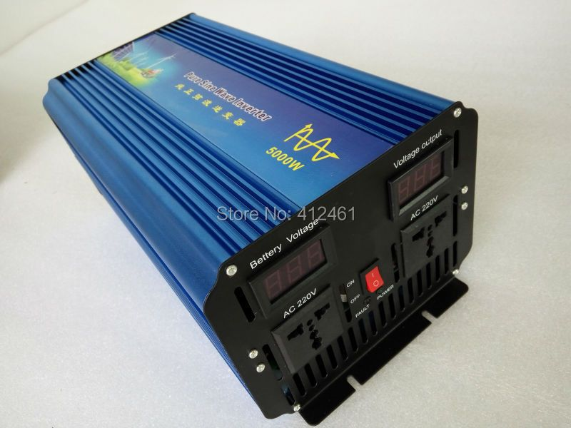 5KW solar  pure sine wave  inverter for house, made in China inverters 12/24V 5000W pure sine Peak 10000W