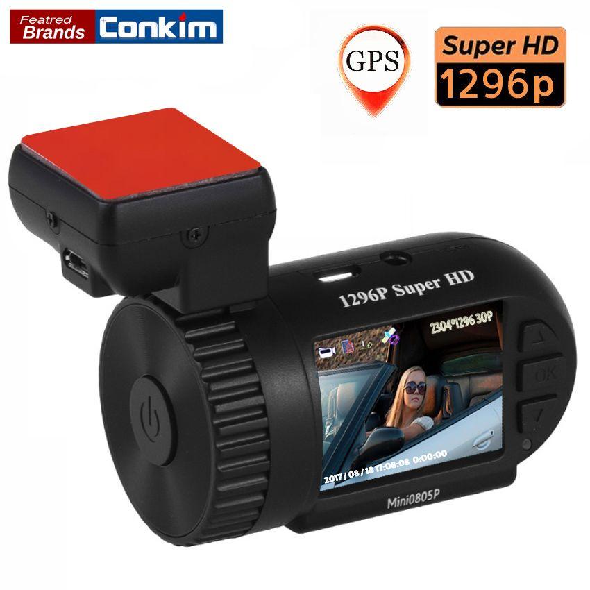 Conkim Mini 0805P Car Dash Camera <font><b>1296p</b></font> 30fps H.264 WDR GPS DVR Video Registrar Parking Sensor Low Voltage Protection Capacitor
