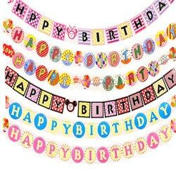 Paper Bunting Garland Banners Flags 12 Months Photo Frame Banner Happy Birthday Banner Boy Girl Baby Shower Decoration Wedding