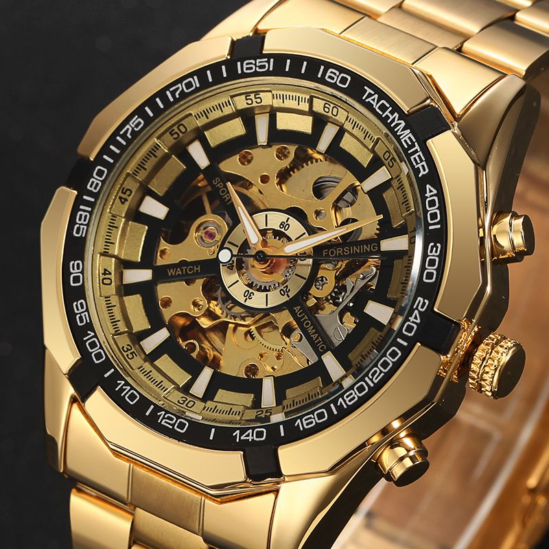 2018 Forsining Luxury Watch Men Sport Watches Mens Fashion Watch Military Automatic Mechanical Wrist Watch Skeleton